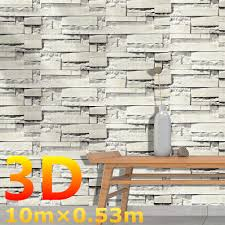 <b>New</b> Modern 0.53*10m <b>3D Wall Stickers</b> Brick Pattern Textured Non ...