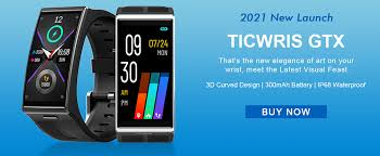 <b>TICWRIS GTX Men</b> Smart Watch Waterproof Fitness Tracker Blood ...
