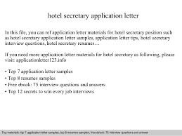 Executive secretary cover letter Application Letter Sample For Fresh Graduate Secretary Application Letter Sample Secretary Application Letter Cv Sample Of