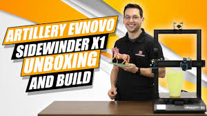 <b>Artillery</b> (Evnovo) <b>Sidewinder X1</b> 3D Printer Unboxing, Build, and ...