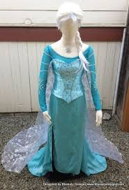 Elsa Frozen <b>Snow Queen</b> Park Version A <b>Adult</b> Costume Custom ...