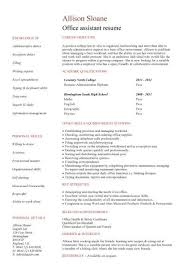 administration cv template    administrative cvs  administrator    no work experience office assistant resume