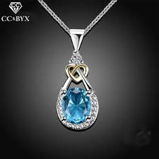 Compare prices on <b>925 silver</b> women pendant necklace blue <b>drop</b> ...