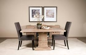 modern dining table teak classics: fabulous dining space with black stools and high square classic oak table grey chairs for small
