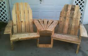 diy pallet deck double pallirondack settee do it yourself home projects from ana