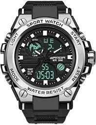 <b>Men's</b> Digital Sports Watch, Multi-Functions <b>Dual</b>-<b>Display</b> Tactical