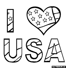 Small Picture I Love USA Coloring Page Free I Love USA Online Coloring