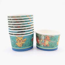 <b>10pcs</b>/lot <b>Pikachu Pokemon</b> Disposable Ice Cream Cups For ...