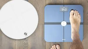 bathroom scale display shows