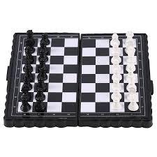 Brand New <b>1 Set Mini</b> Magnetic Plastic Folding Chess Board Chess ...