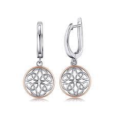 <b>JewelryPalace</b> Hollow Celtic Knots Drop Earrings <b>925 Sterling Silver</b>