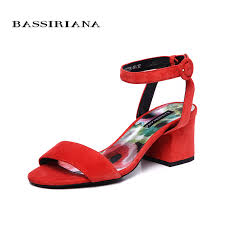 <b>BASSIRIANA new 2018 genuine</b> leather suede summer sandals ...