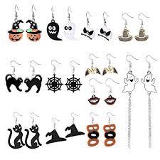 <b>Halloween</b> Earrings for Women <b>Halloween</b> Resin <b>Drop</b> Earrings <b>Bat</b> ...