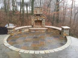outdoor fireplace paver patio: paver patio natural stone seating wall outdoor fireplace reading rock brick