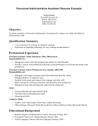 cover letter resume objectives for administrative assistant resume executive assistant resume objectives