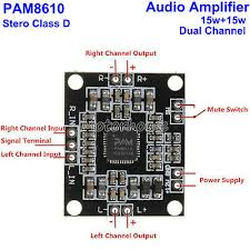 1/2/<b>5PCS</b> NEW PAM8610 2*15W <b>Dual channel</b> Stereo Class Digital ...