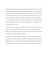 essay  plato descartes and the matrix philosophy   studentshare essay  plato descartes and the matrix