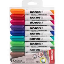 <b>Маркеры</b> для досок разноцветный <b>Kores</b> 10 шт купить с ...