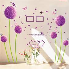 cartoon new chic family picture photo bouquet dandelion wall stickers kids room decorative vinyl stickers removable anime poster chic family room decorating