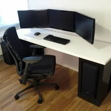 luxury white home office modern computer desk setup amazing home office luxurious