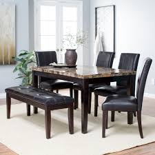 Kitchen Tables Sets For Finley Home Palazzo 6 Piece Dining Set With Bench Dining Table