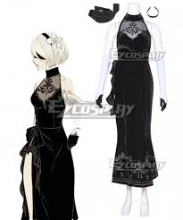 2 <b>Dress</b> Cosplay <b>Outfit Costume</b> Gown Suit NieR:Automata <b>2B</b> A2 ...