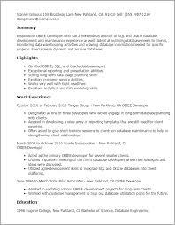 resume templates obiee developer obiee developer resume