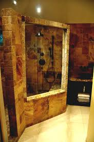 bathroom ideas corner shower design:  bathroom excellent natural shower ideas theme small design with big square transparant mirror also be equipped