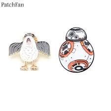 <b>Patchfan</b> Robot BB 8 penguin Zinc pins para clothes metal medal for ...