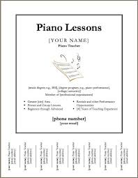 downloadable template for a poster for piano lessons  except i can    downloadable template for a poster for piano lessons  except i can    t really fill