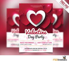valentine day party flyer psd psd bies com valentine day party flyer psd