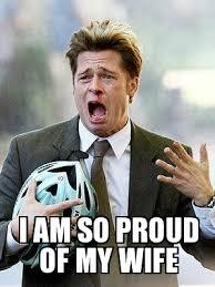 Proud Brad Pitt - WeKnowMemes Generator via Relatably.com