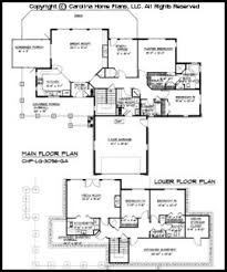 Large Hillside Ranch Home Plan CHP LG   GA Sq Ft   Luxury Home    LG  Main Floor Plan