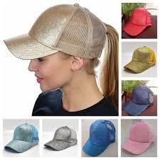 <b>14 Colors Women</b> Hat Ponytail Baseball Hat <b>Girl</b> Softball Hats Back ...