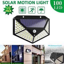 <b>100 Led Solar</b> Lights Outdoor Solar Garden Light With PIR Motion ...