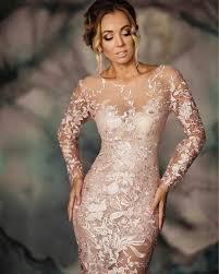 Blush Wedding Dress/Light Pink Modern Wedding Dress/<b>Sexy</b> ...