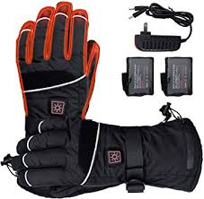 M/XL Rechargeable Battery <b>Winter Electric Heated Gloves</b> ...