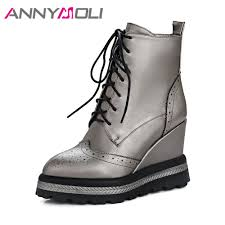 <b>ANNYMOLI</b> Winter <b>Shoes Women</b> Ankle <b>Boots</b> Punk Platform ...