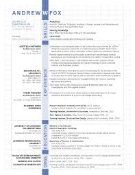 resume architecture resume and foxes architecture resume of experience education and skills