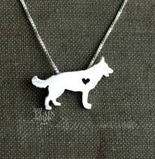 dog faces ceramic bathroom accessories shabby chic: german shepherd necklace tiny sterling silver hand cut dog pendant with heart
