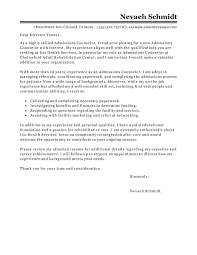 best admissions counselor cover letter examples   livecareeredit