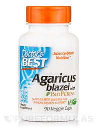 <b>Agaricus blazei with BioPerine</b>® - 90 Veggie Capsules