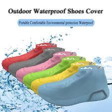 Waterproof <b>Silicone Shoes Cover Outdoor</b> Reusable Non-slip Rain ...