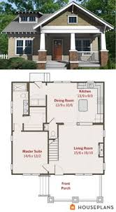 ideas about Small Bungalow on Pinterest   Bungalows    Small craftsman bungalow floor plan and elevation