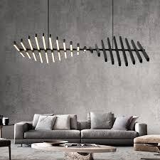 <b>Modern LED Chandelier lighting Nordic</b> Black/White Office Pendant ...