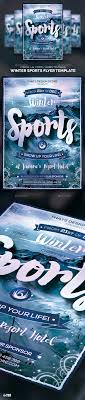 winter sports flyer template by thatsdesign graphicriver winter sports flyer template sports events