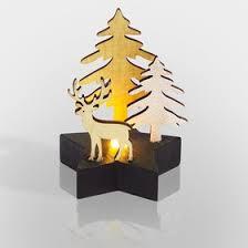 """504-042, <b>Деревянная фигурка с подсветкой</b> """"Олень в лесу"""" 9*8*10 ..."""