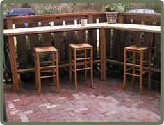 small patio bar