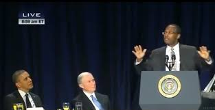 Image result for ben carson obama prayer breakfast pics