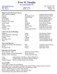 musical theater resume best template collection how to write a musical theater resume